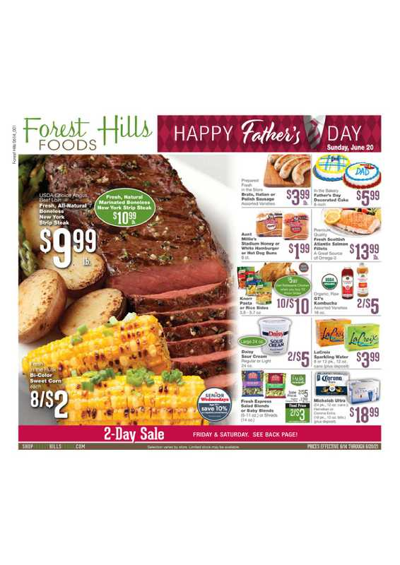 Forest Hills Foods - deals are valid from 06/14/21 to 06/20/21 - page 1.