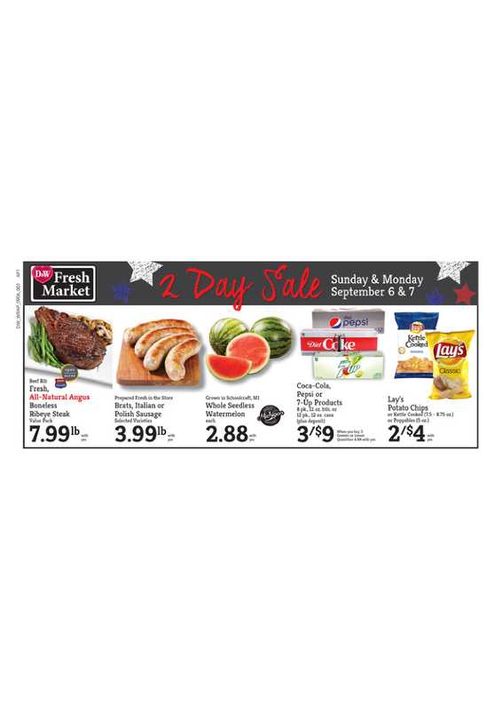 D&W Fresh Market - deals are valid from 09/06/20 to 09/12/20 - page 1.