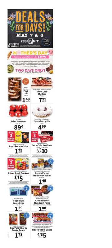 Food City - deals are valid from 05/05/21 to 05/11/21 - page 1.