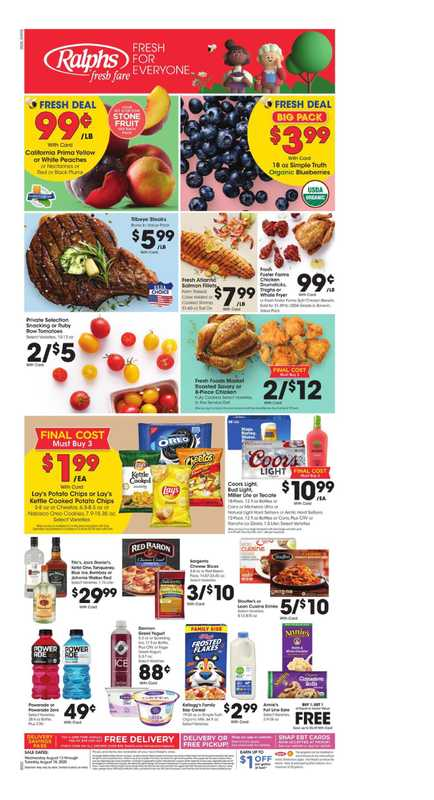 Ralphs - deals are valid from 08/12/20 to 08/18/20 - page 1.