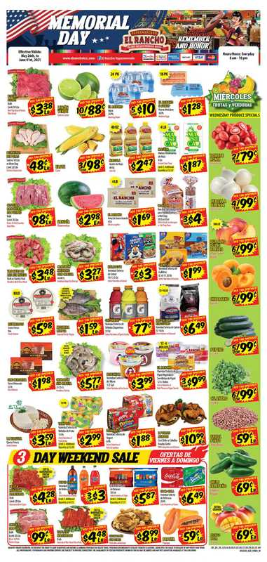 El Rancho Supermarket - deals are valid from 05/26/21 to 06/01/21 - page 1.