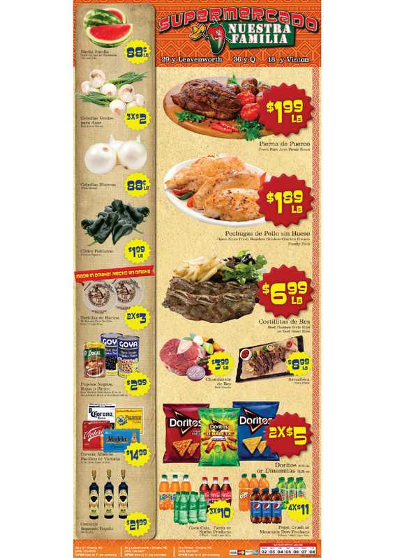 Supermercado Nuestra Familia - deals are valid from 06/02/21 to 06/08/21 - page 1.