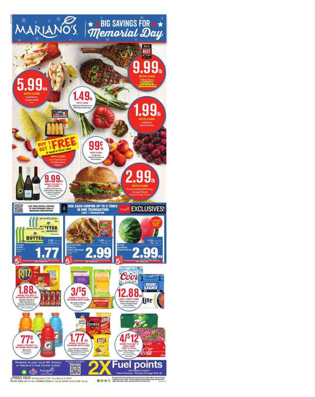 Mariano's - deals are valid from 05/26/21 to 06/01/21 - page 1.