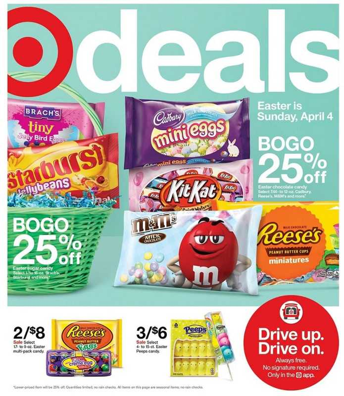 Target - deals are valid from 03/28/21 to 04/03/21 - page 1.