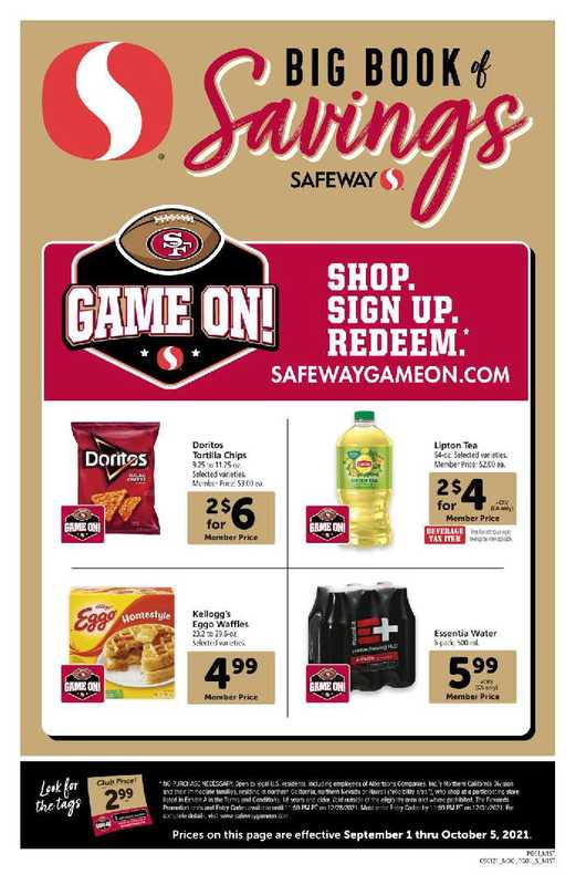 Safeway - deals are valid from 09/01/21 to 10/05/21 - page 1.