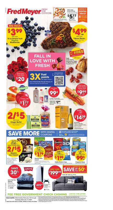 Fred Meyer - deals are valid from 02/10/21 to 02/16/21 - page 1.