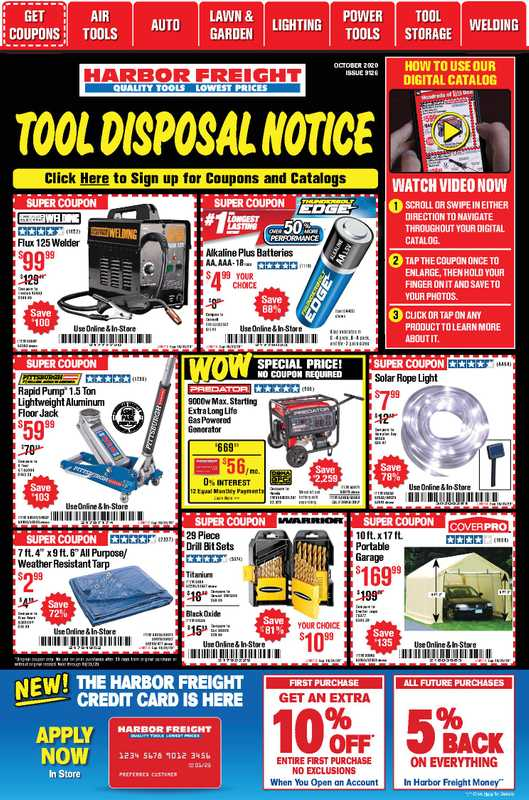 Harbor Freight Tools - deals are valid from 10/01/20 to 10/31/20 - page 1.