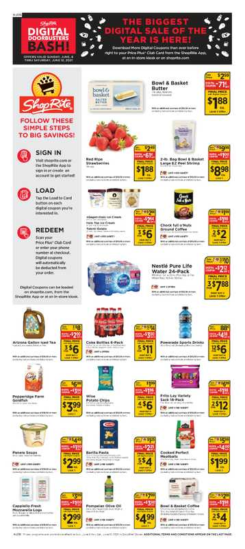 ShopRite - deals are valid from 06/06/21 to 06/12/21 - page 1.