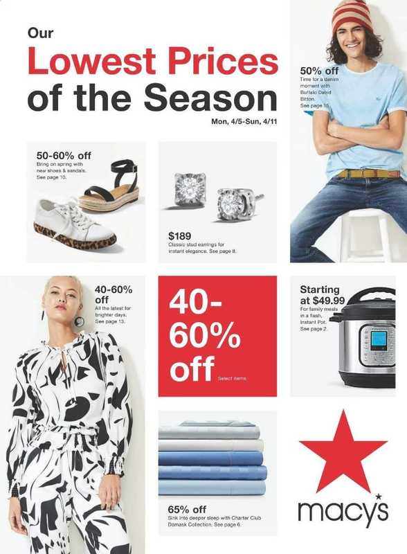 Macy's - deals are valid from 04/05/21 to 04/11/21 - page 1.