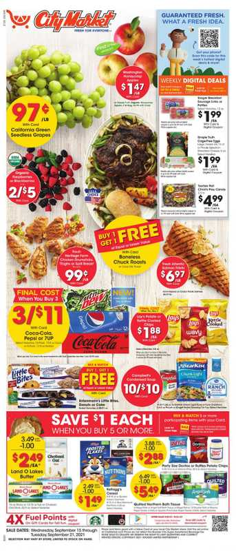 City Market - deals are valid from 09/15/21 to 09/21/21 - page 1.