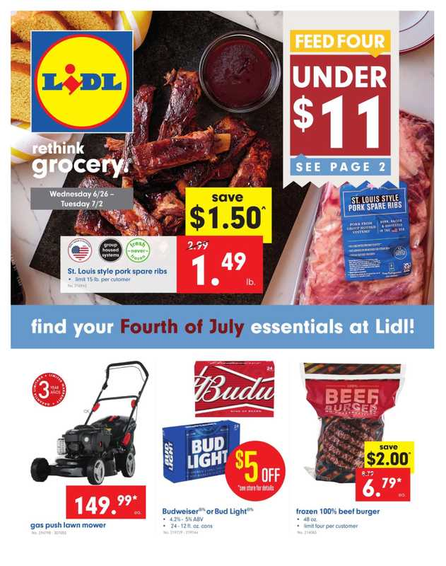 Lidl - deals are valid from 06/26/19 to 07/02/19 - page 1.