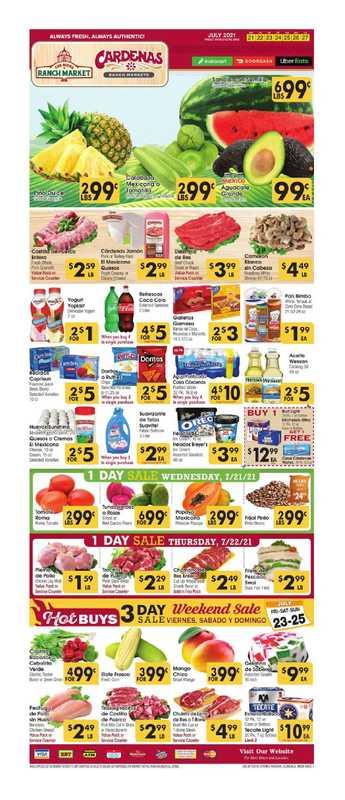 Los Altos Ranch Market - deals are valid from 07/21/21 to 07/27/21 - page 1.
