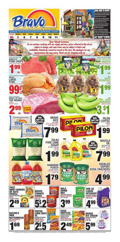 Bravo - deals are valid from 11/05/20 to 11/11/20 - page 1.