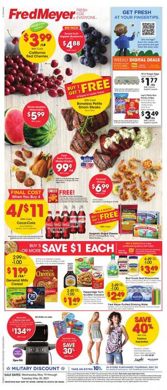 Fred Meyer - deals are valid from 05/19/21 to 05/25/21 - page 1.
