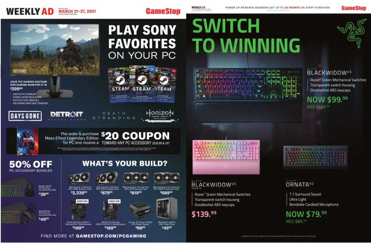 GameStop - deals are valid from 03/21/21 to 03/27/21 - page 1.