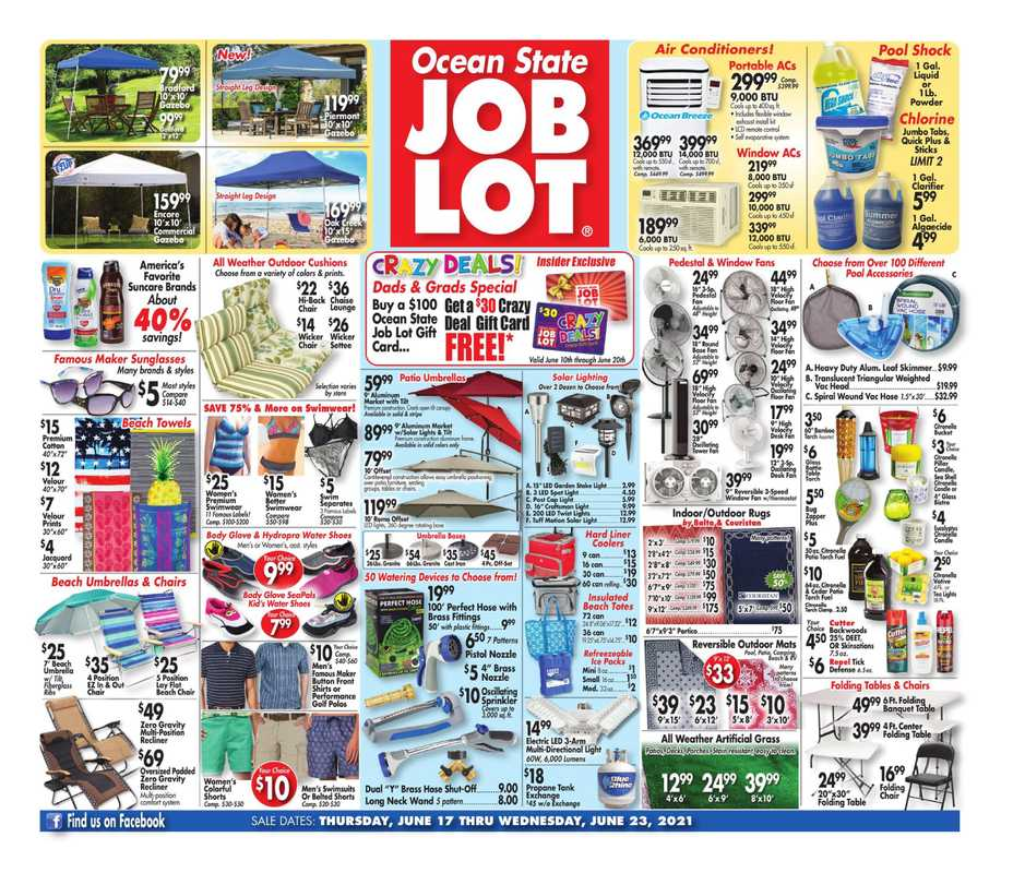 Ocean State Job Lot - deals are valid from 06/17/21 to 06/23/21 - page 1.