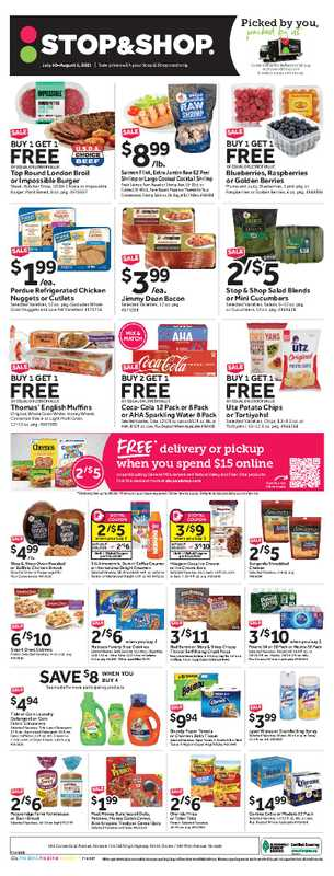 Stop & Shop - deals are valid from 07/30/21 to 08/05/21 - page 1.