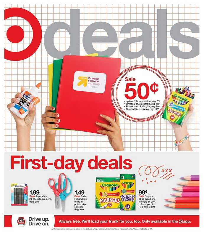 Target - deals are valid from 07/25/21 to 07/31/21 - page 1.