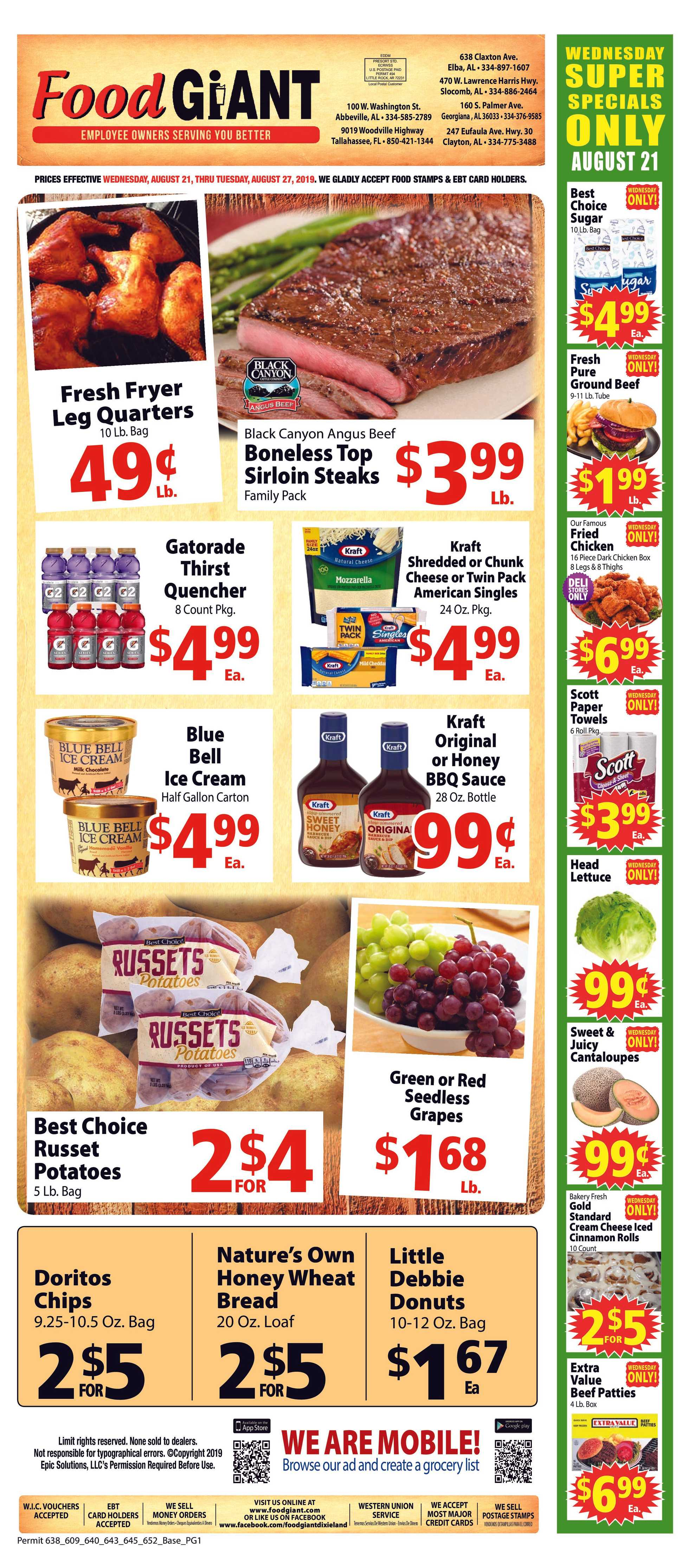 Food Giant - promo starting from 21.08.2019 - page 1