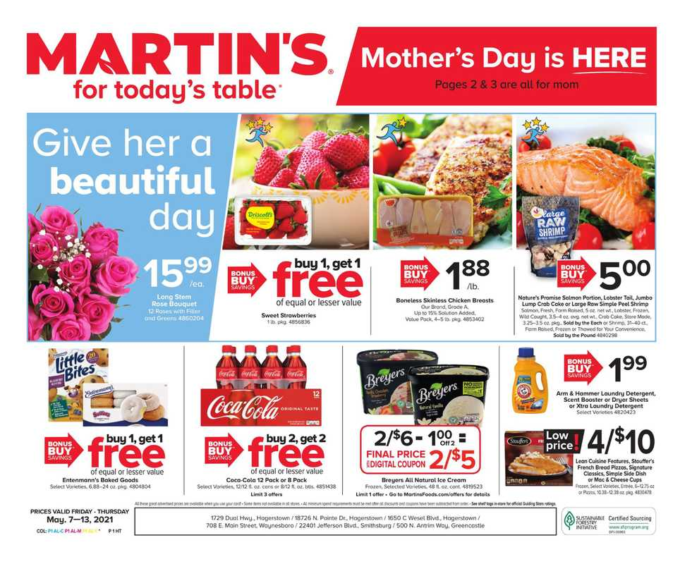 Martin's - deals are valid from 05/07/21 to 05/13/21 - page 1.