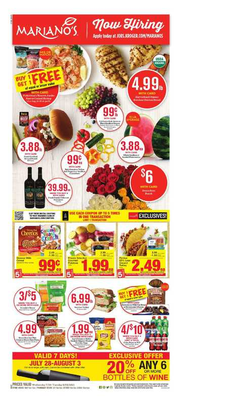 Mariano's - deals are valid from 07/28/21 to 08/03/21 - page 1.