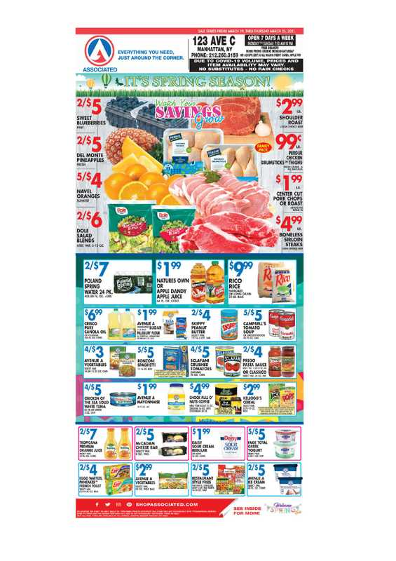 Associated Supermarkets - deals are valid from 03/19/21 to 03/25/21 - page 1.