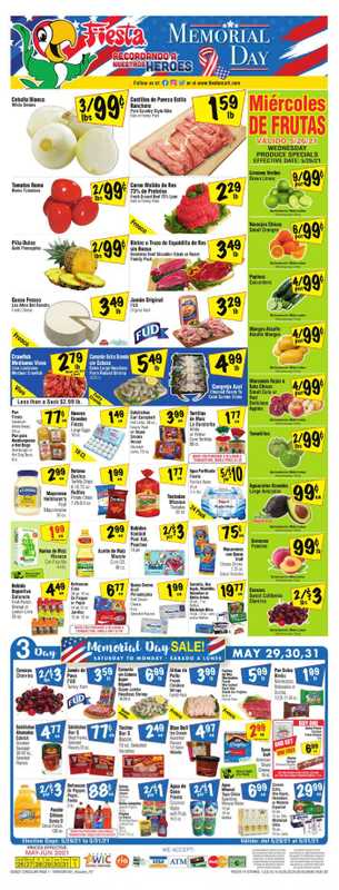 Fiesta Mart - deals are valid from 05/26/21 to 06/01/21 - page 1.