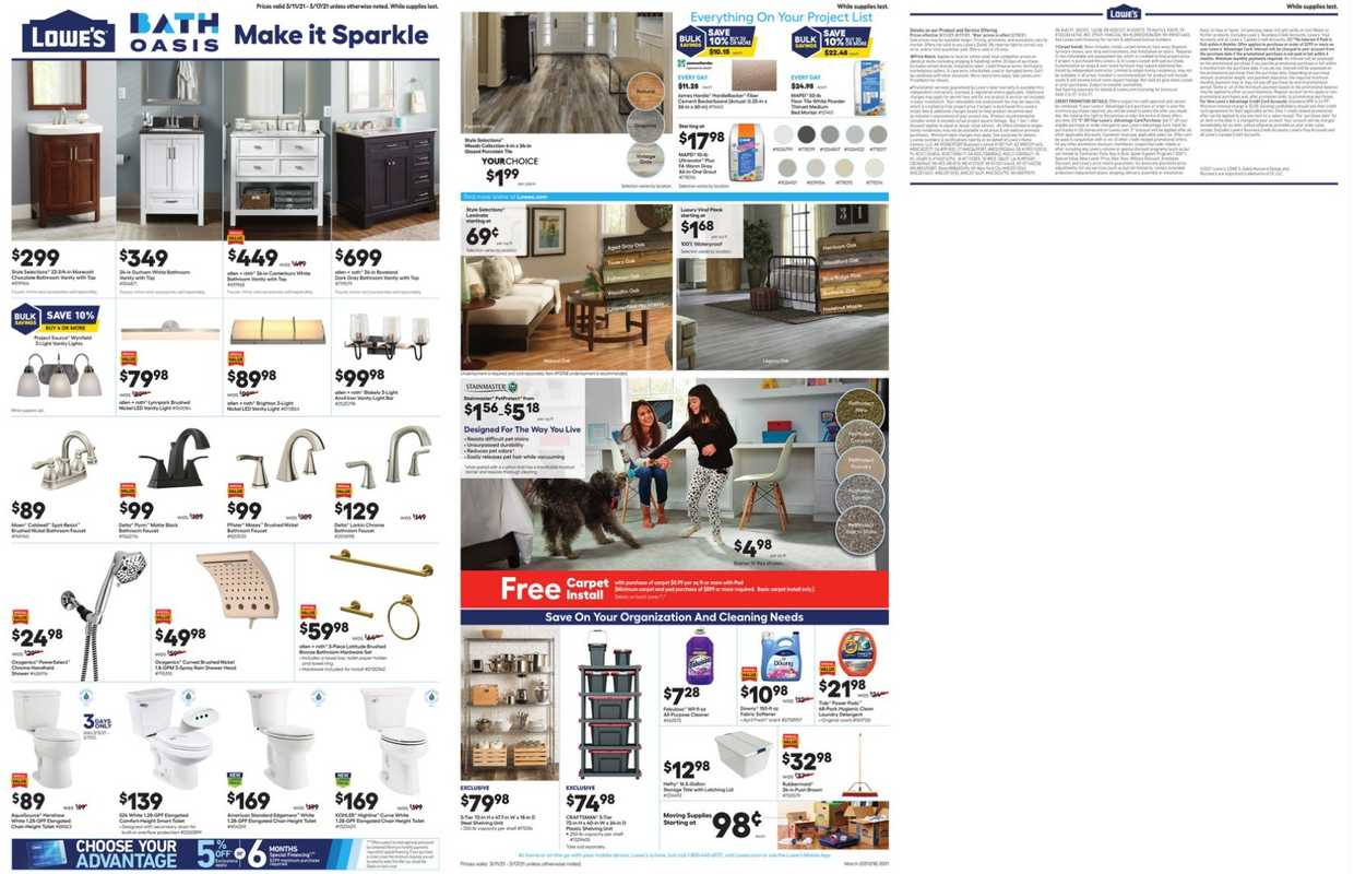 Lowe`s - deals are valid from 03/11/21 to 03/17/21 - page 1.