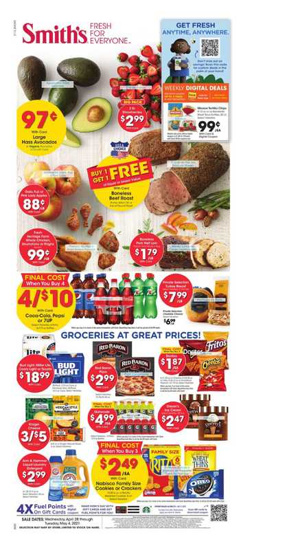 Smith's - deals are valid from 04/28/21 to 05/04/21 - page 1.
