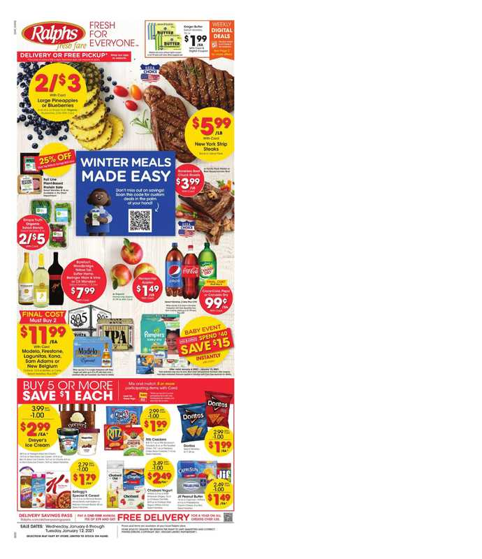 Ralphs - deals are valid from 01/06/21 to 01/12/21 - page 1.