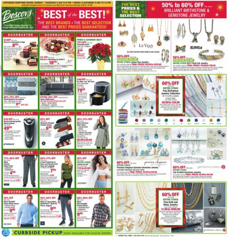 Boscov's - deals are valid from 12/03/20 to 12/09/20 - page 1.