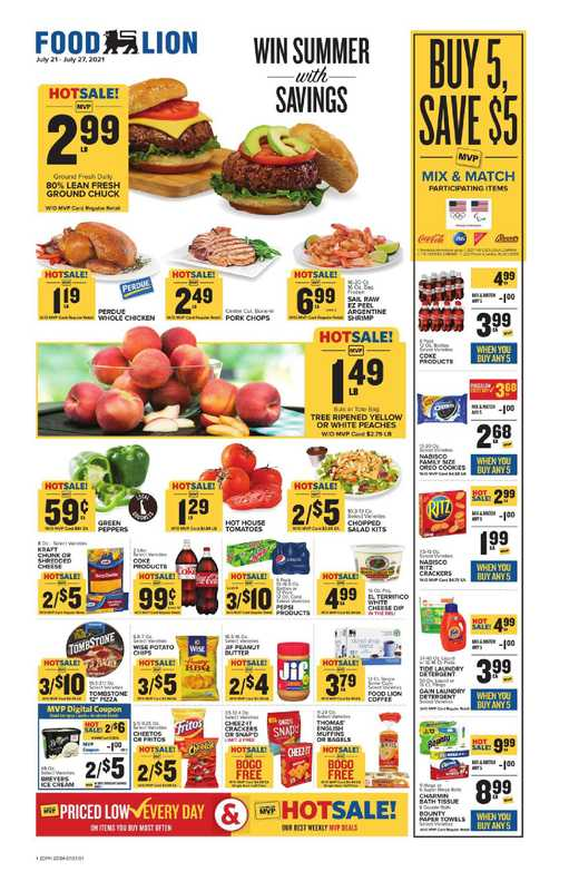 Food Lion - deals are valid from 07/21/21 to 07/27/21 - page 1.