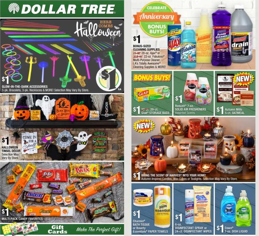 Dollar Tree - deals are valid from 09/26/21 to 11/09/21 - page 1.