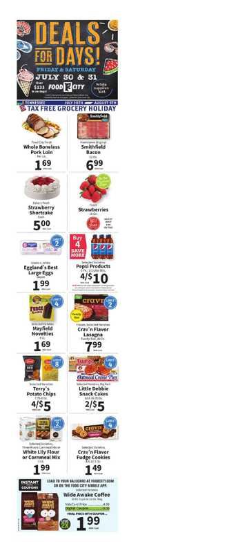 Food City - deals are valid from 07/28/21 to 08/03/21 - page 1.