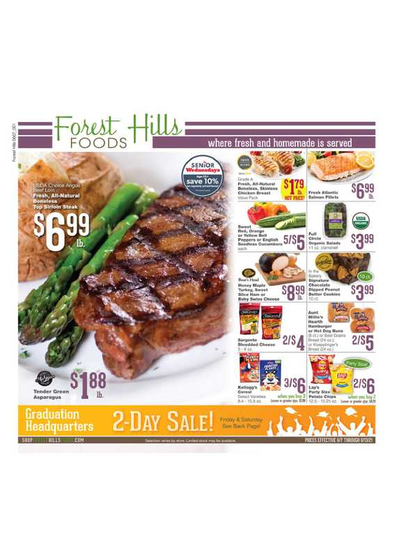 Forest Hills Foods - deals are valid from 06/07/21 to 06/13/21 - page 1.