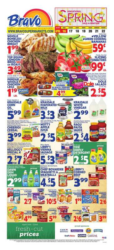 Bravo - deals are valid from 04/16/21 to 04/22/21 - page 1.