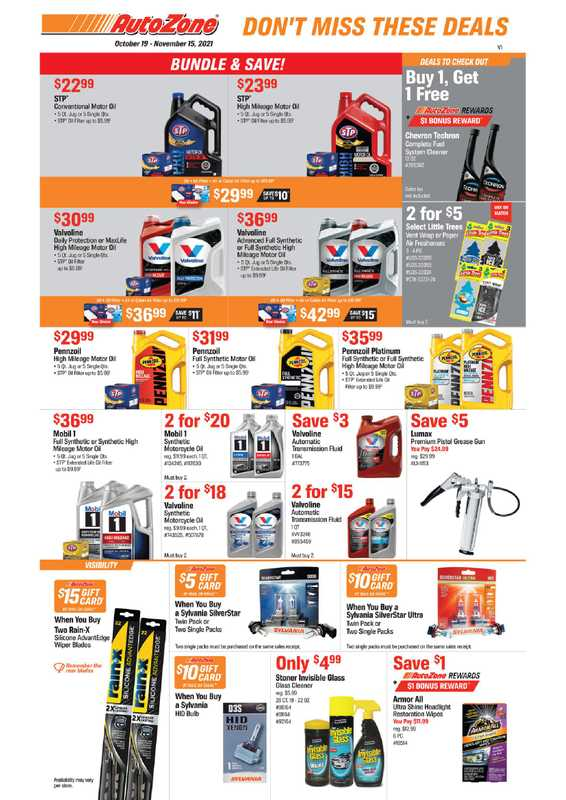 AutoZone - deals are valid from 10/19/21 to 11/15/21 - page 1.