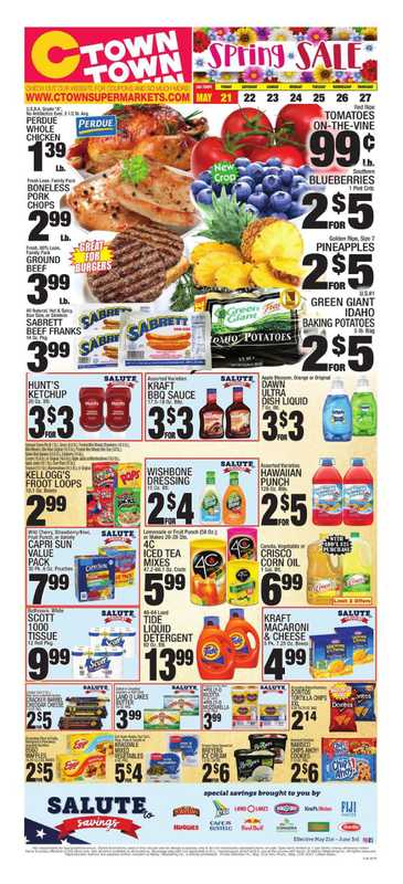 C-Town - deals are valid from 05/21/21 to 05/27/21 - page 1.