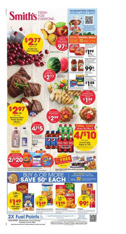 Smith's - deals are valid from 06/02/21 to 06/08/21 - page 1.