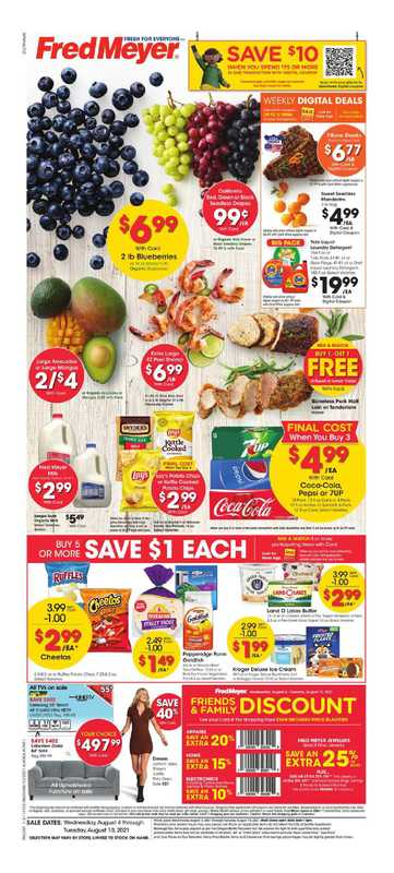 Fred Meyer - deals are valid from 08/04/21 to 08/10/21 - page 1.