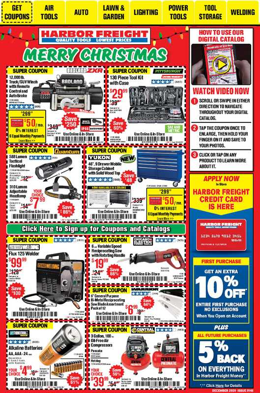Harbor Freight Tools - deals are valid from 12/01/20 to 12/31/20 - page 1.
