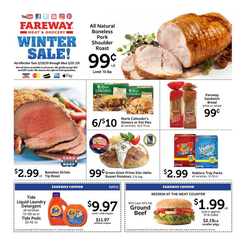 Fareway - deals are valid from 02/17/19 to 02/25/19 - page 1.
