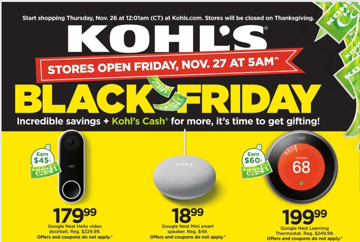 Kohl's - deals are valid from 11/22/20 to 11/28/20 - page 1.