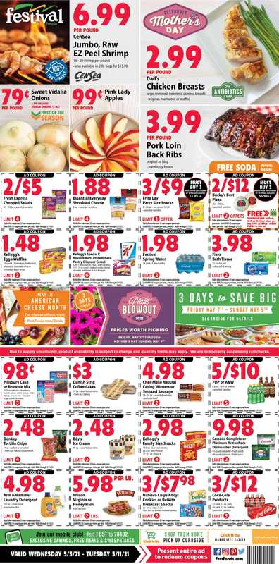Festival Foods - deals are valid from 05/05/21 to 05/11/21 - page 1.