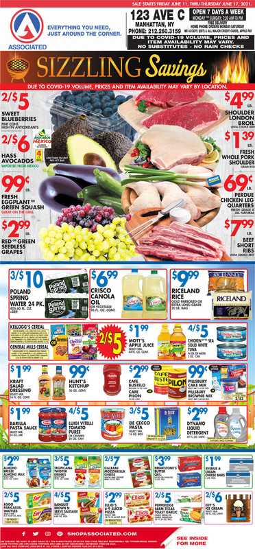 Associated Supermarkets - deals are valid from 06/11/21 to 06/17/21 - page 1.