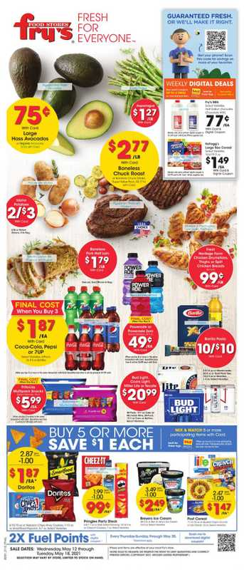 Fry's Food - deals are valid from 05/12/21 to 05/18/21 - page 1.