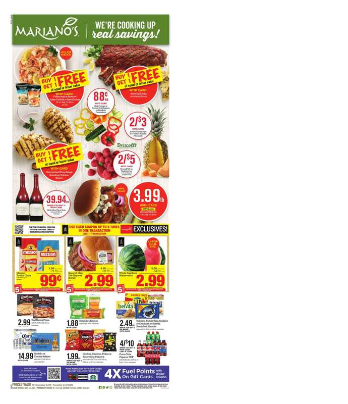 Mariano's - deals are valid from 04/28/21 to 05/04/21 - page 1.