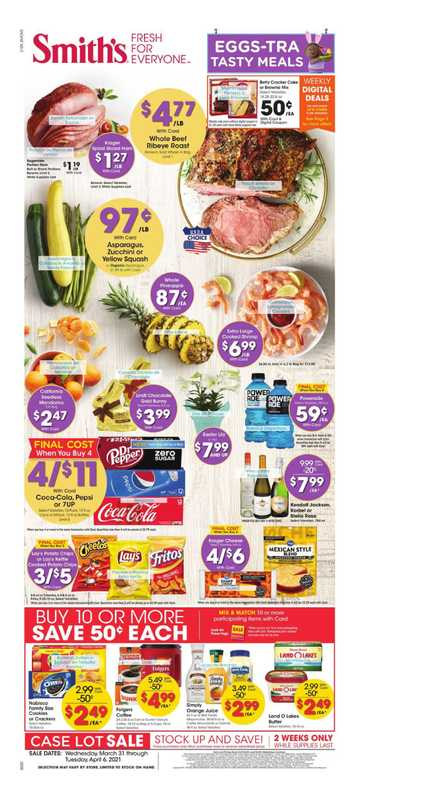Smith's - deals are valid from 03/31/21 to 04/06/21 - page 1.