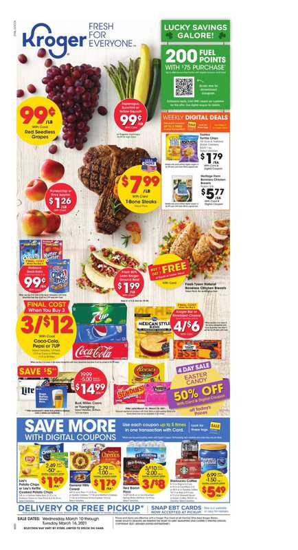 Kroger - deals are valid from 03/10/21 to 03/16/21 - page 1.