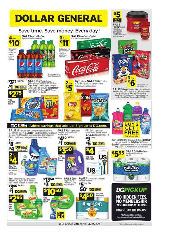 Dollar General - deals are valid from 04/25/21 to 05/01/21 - page 1.
